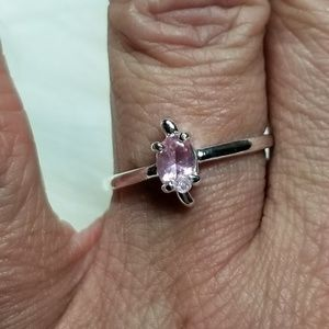 Farah Jewelry Amethyst Silver Plated Ring - 7.5